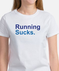 Running Sucks Blue T-Shirt