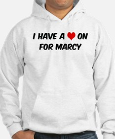 Heart on for Marcy Hoodie