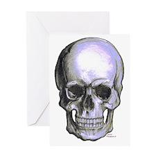 Skull on light background Greeting Card
