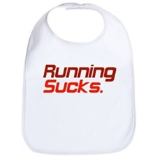 Running Sucks Red Bib