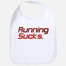Running Sucks Red Bib