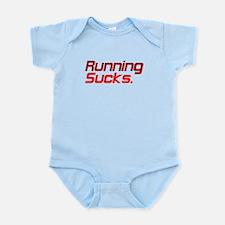 Running Sucks Red Body Suit