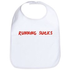 Running Sucks Handwriting Bib