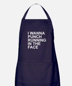 I Wanna Punch Running In The Face White Apron (dar