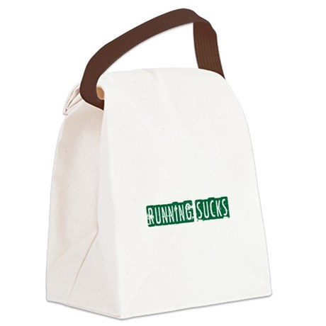 Running Sucks Block Canvas Lunch Bag