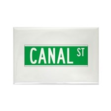 Canal St., New York - USA Rectangle Magnet (100 pa