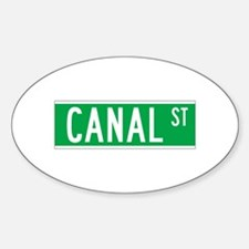 Canal St., New York - USA Oval Decal