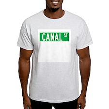 Canal St., New York - USA Ash Grey T-Shirt