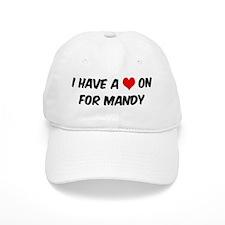 Heart on for Mandy Baseball Cap
