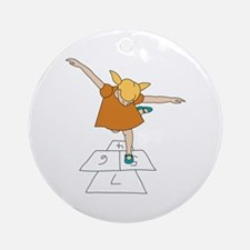 Hopscotch Ornament (Round)