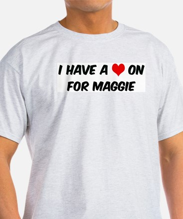 Heart on for Maggie Ash Grey T-Shirt