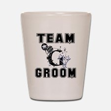Celebrate Team Groom Shot Glass