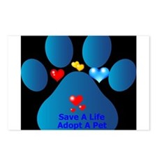 Cute Save a life adopt Postcards (Package of 8)
