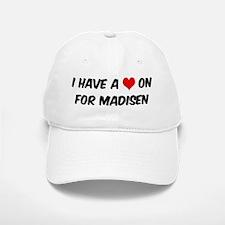 Heart on for Madisen Baseball Baseball Cap