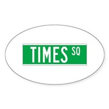 Times Sq., New York - USA Oval Decal