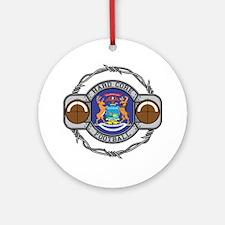 Michigan Football Ornament (Round)