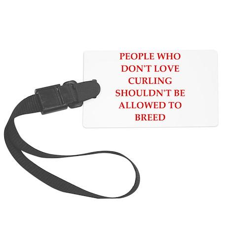 curling Luggage Tag