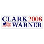 Clark-Warner 2008 Bumper Sticker