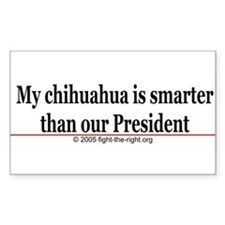 MyChihuahuaIsSmarter.jpg Decal
