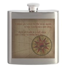 Harvest Moons Compass Rose Flask