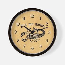 Scorpion It's My Nature Wall Clock