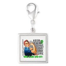 Rosie Keep Calm NH Lymphoma Silver Square Charm