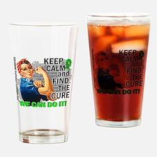 Rosie Keep Calm NH Lymphoma Drinking Glass