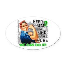 Rosie Keep Calm NH Lymphoma Oval Car Magnet
