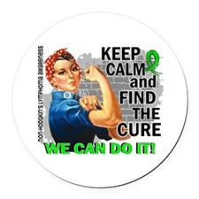 Rosie Keep Calm NH Lymphoma Round Car Magnet