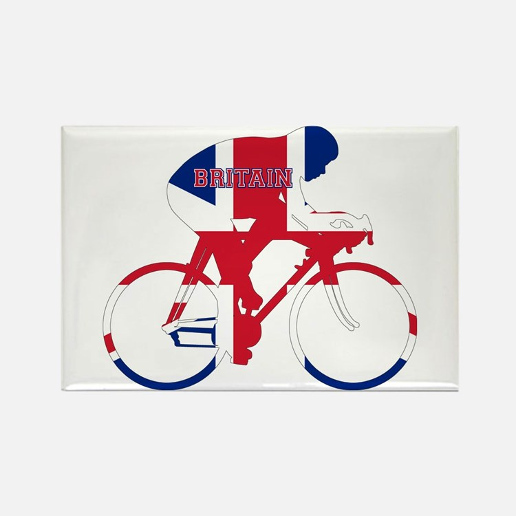 Britain Cycling Rectangle Magnet