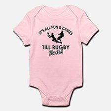 Rugby enthusiast designs Infant Bodysuit