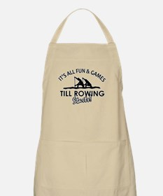 Rowing enthusiast designs Apron