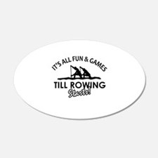 Rowing enthusiast designs Wall Decal