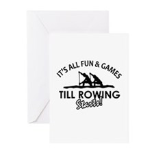 Rowing enthusiast designs Greeting Cards (Pk of 10