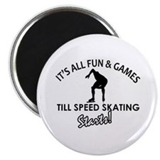 Speed Skating enthusiast designs Magnet