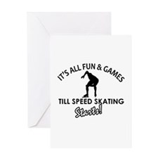 Speed Skating enthusiast designs Greeting Card