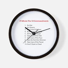 If I wrote 10 commandments Wall Clock