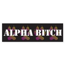 Alpha Bitch Bumper Car Sticker