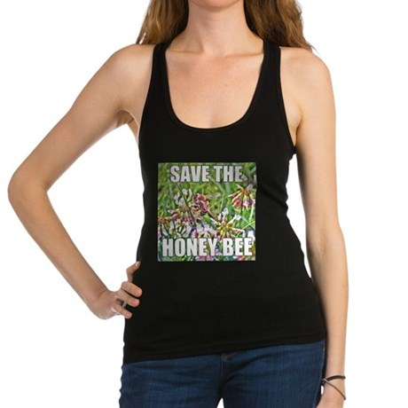 Save the honey bee Racerback Tank Top
