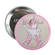 Goat Pink Ribbon Button