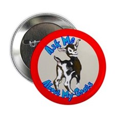 Ask me About my Goats Button
