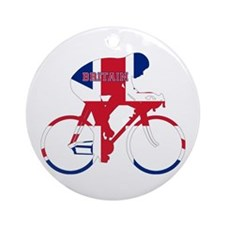 Britain Cycling Ornament (Round)