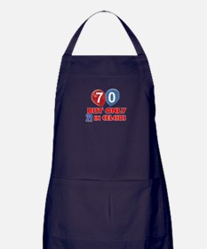 70 year old designs Apron (dark)