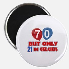 """70 year old designs 2.25"""" Magnet (10 pack)"""