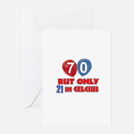 70 year old designs Greeting Card