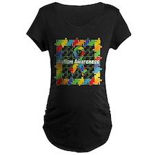 Square Autism Puzzle Ribbon T-Shirt