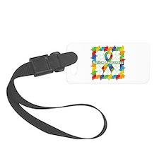 Square Autism Puzzle Ribbon Luggage Tag