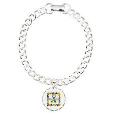 Square Autism Puzzle Ribbon Bracelet