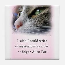 Poe's Cat Tile Coaster