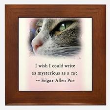 Poe's Cat Framed Tile